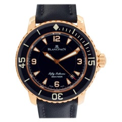 Blancpain Fifty Fathoms 5015.3630.52, Black Dial, Certified and Warranty