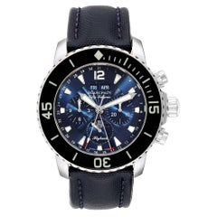 Blancpain Fifty Fathoms Flyback Chronograph Moonphase Watch 5066f-1140-52b