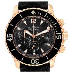 Blancpain Fifty Fathoms Flyback Rose Gold Chronograph Men's Watch 5085F