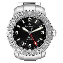 Blancpain Fifty Fathoms Trilogy GMT Steel Men's Watch 2250