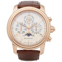 Blancpain Le Brassus Perpetual Calendar Split Seconds Chronograph 18 Karat Gold