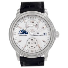 Blancpain Leman 2160-1127-53, White Dial, Certified and Warranty