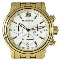 Blancpain Leman Chronograph Yellow Gold White Dial 2185-1418-63A