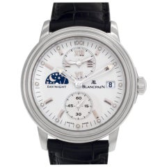 Blancpain Leman No1445 Stainless Steel White Dial Automatic Watch