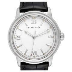 Blancpain Leman Ultra Slim White Dial Steel Men's Watch 2100 Box Papers