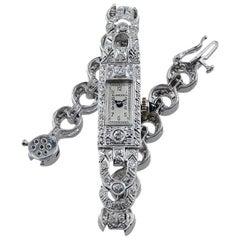 Blancpain Platinum and 18 Karat Diamond Dress Watch, circa 1930s-1940s