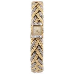 Blancpain Rayville Movement 17 Jewels Gold Platinum Diamond Bracelet Watch