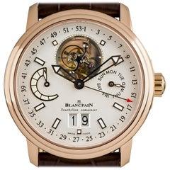 Blancpain Rose Gold Leman Tourbillon Semainier Grande Date 2925-3642-53B Watch
