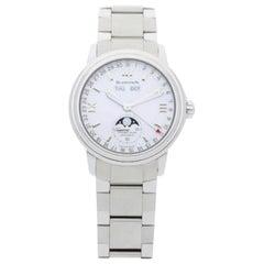 Blancpain Stainless Steel Triple Calendar Bracelet Watch