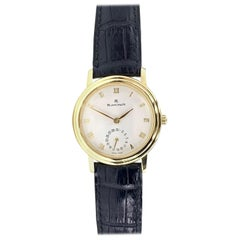 Blancpain Villeret 18 Karat Gold Ladies Watch on Black Leather Strap