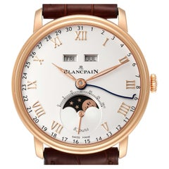 Blancpain Villeret Complete Calendar 8 Days Rose Gold Watch 6639 Box Papers