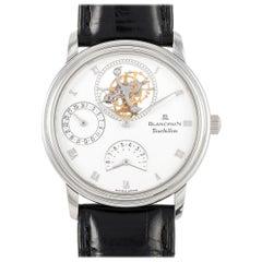 BlancPain Villeret Tourbillon Platinum Watch 0023-3427-58