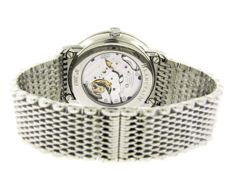 Modern Blancpain Stainless Steel Villeret Ultra Slim Self-Winding Wristwatch For Sale