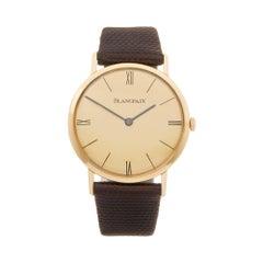 Blancpain Vintage 18 Karat Yellow Gold 2850 Wristwatch
