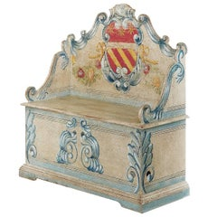 Blanket Chest with Crest Decoration