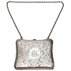 Blankinton Sterling Silver Coin Purse, with Monogram