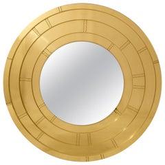 Blaze Mirror in Brass