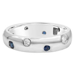 Ble Sapphire and Diamond Etoile Ring