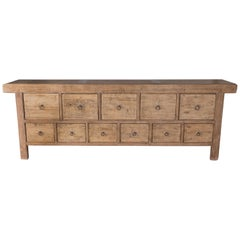 Bleached Elm Multi Drawer Server