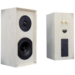 Bleached Handmade Oak Speaker Set with Custom Cross Overs