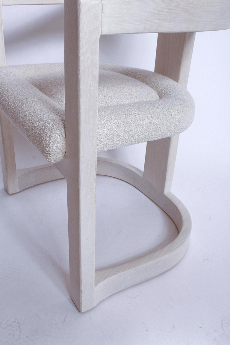 Pair of Signed Springer Bleached Oak Onassis Chairs, 1983 - Two Pairs Available For Sale 6