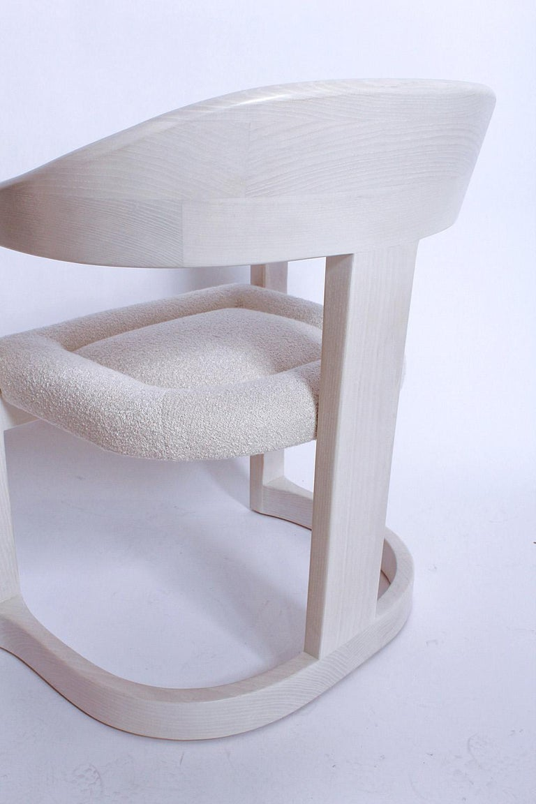 Pair of Signed Springer Bleached Oak Onassis Chairs, 1983 - Two Pairs Available For Sale 7