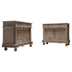 Bleached Pine Cabinets, France circa 1900