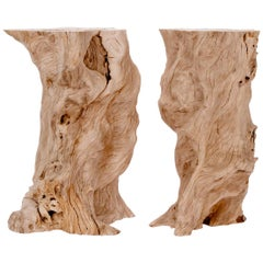 Bleached Plumeria Wood Pedestals