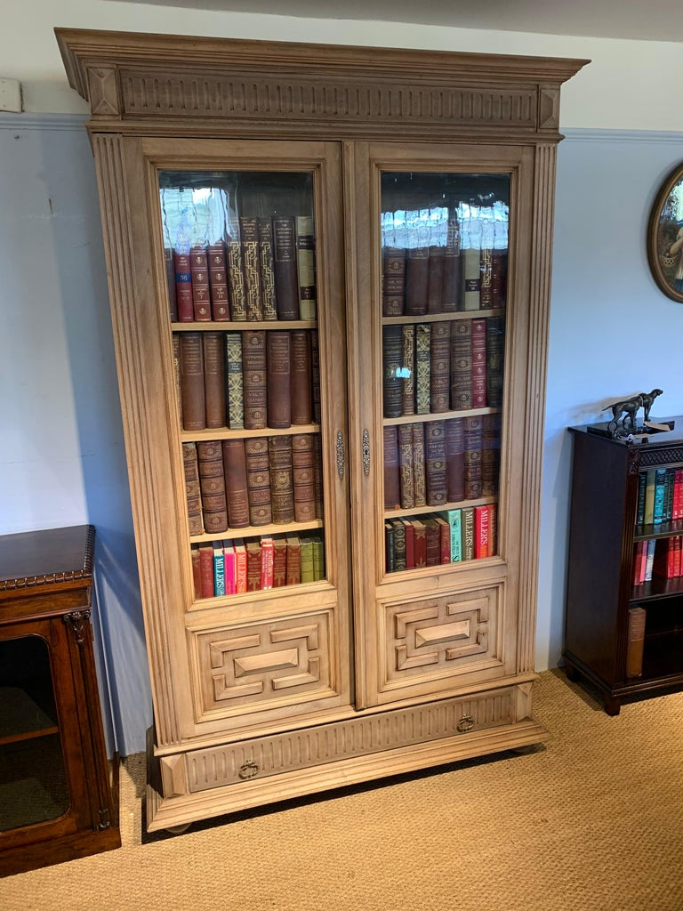 Bleached Walnut Bookcase For Sale 7