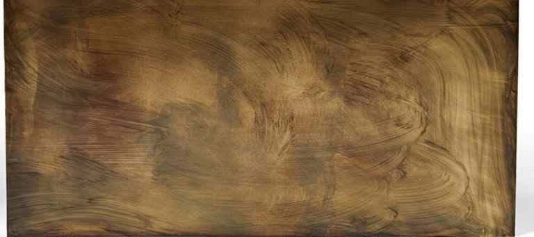Blackened Bleached White Oak With Brass Shelf Cliffside Nightstand by Casey McCafferty For Sale