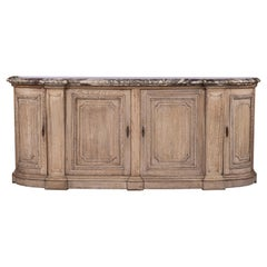 Bleached Wood 19th Century French Buffet