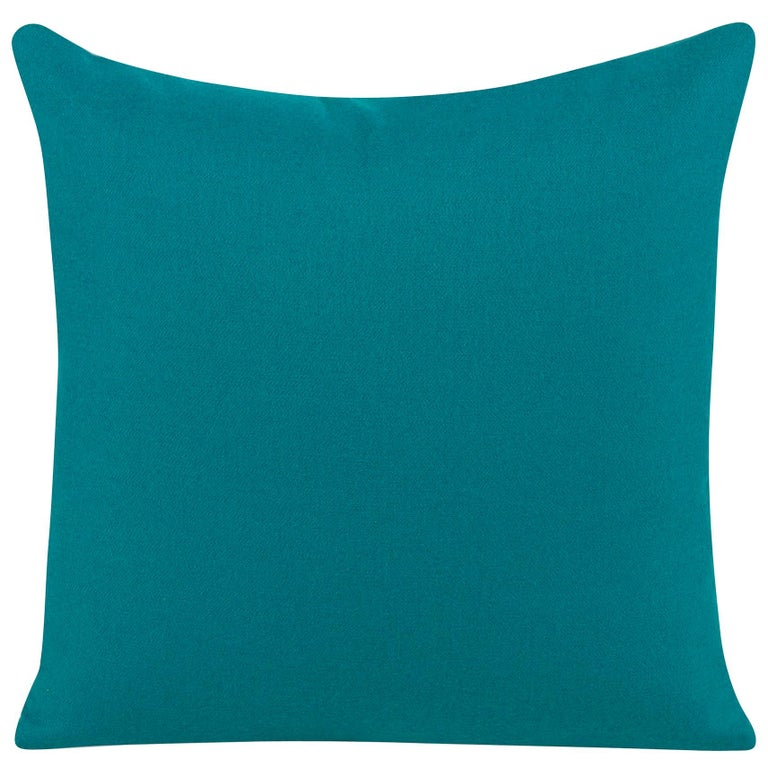Bleeker Pillow in Blue by Curatedkravet For Sale