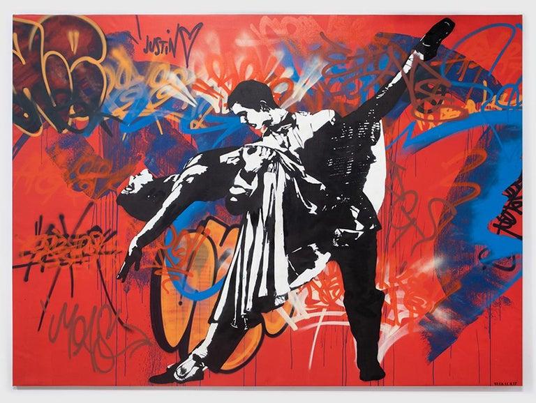 Blek Le Rat Figurative Painting - Great Tango