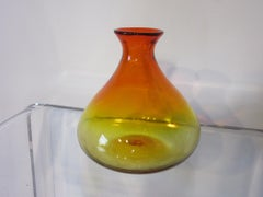 Blenko Amber / Red Vase by Joel Meyer