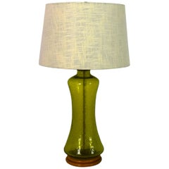 Blenko Crackled Glass Table Lamp, 1972