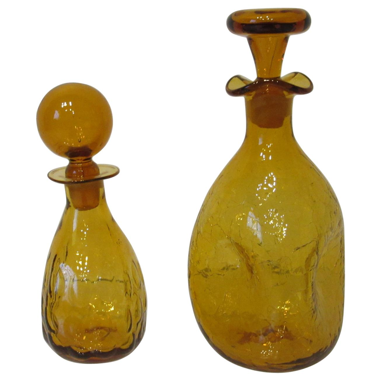 Blenko Hand Blown Decanters by Husted and Anderson