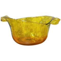 Blenko Hand Crafted Asymmetrical Glass Bowl