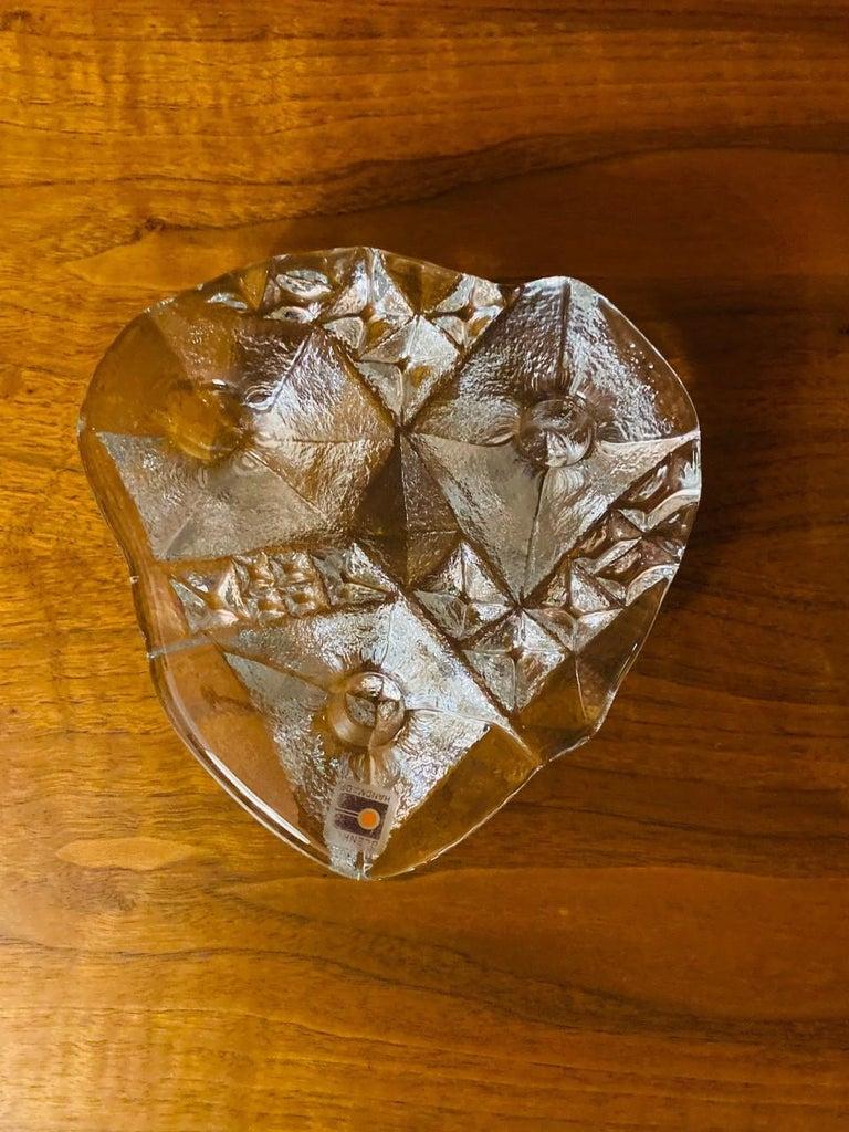 Blenko Midcentury Glass Sculptural Candleholder For Sale 3