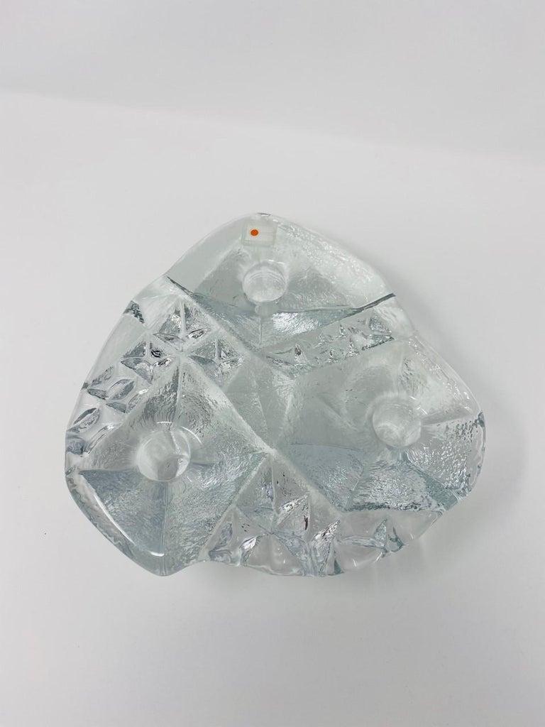 Mid-Century Modern Blenko Midcentury Glass Sculptural Candleholder For Sale