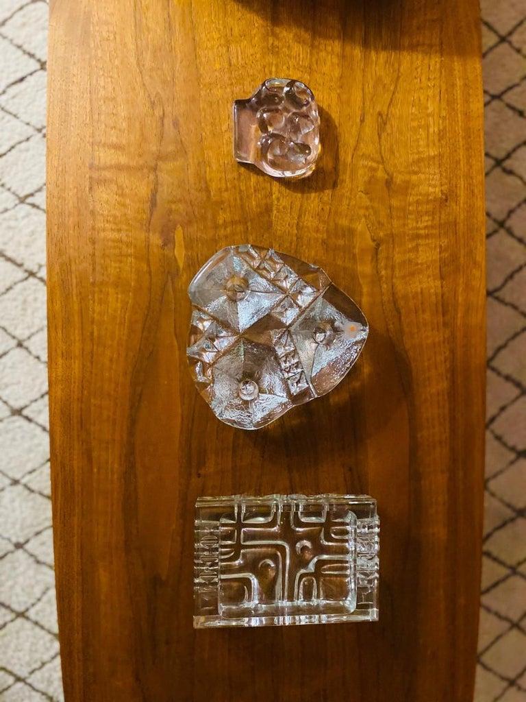 Late 20th Century Blenko Midcentury Glass Sculptural Candleholder For Sale