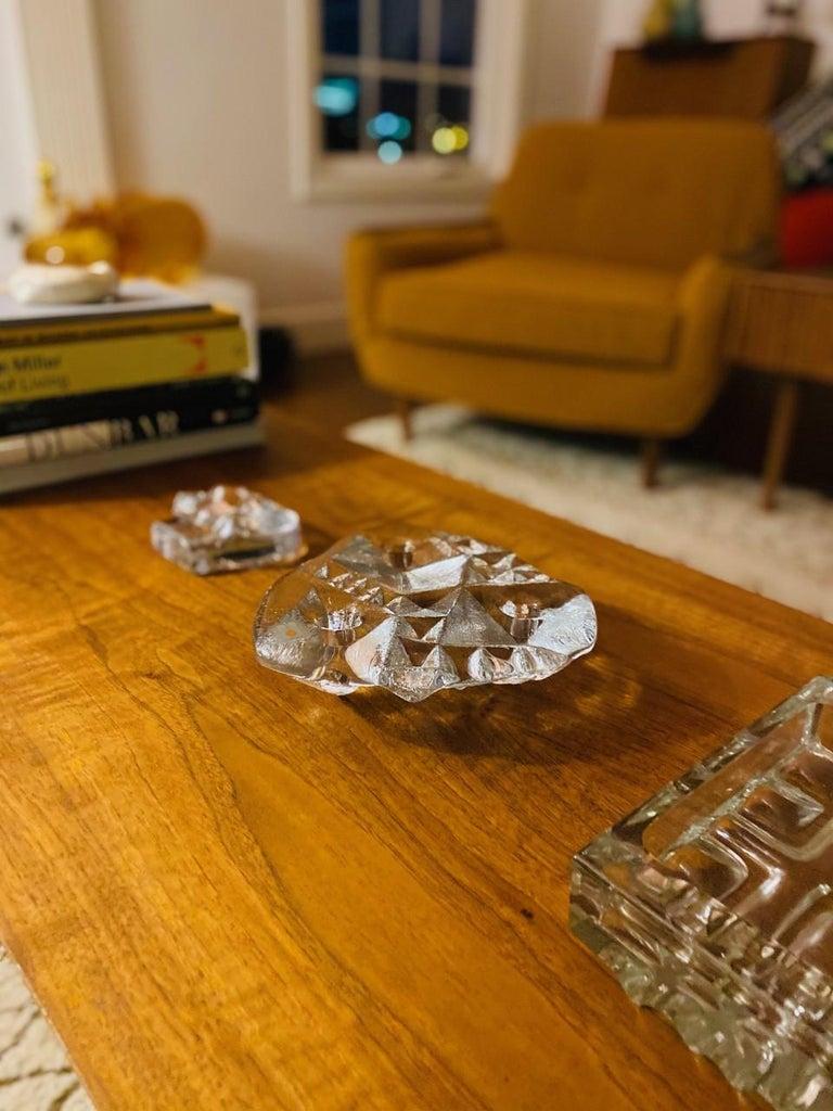 Blenko Midcentury Glass Sculptural Candleholder For Sale 1