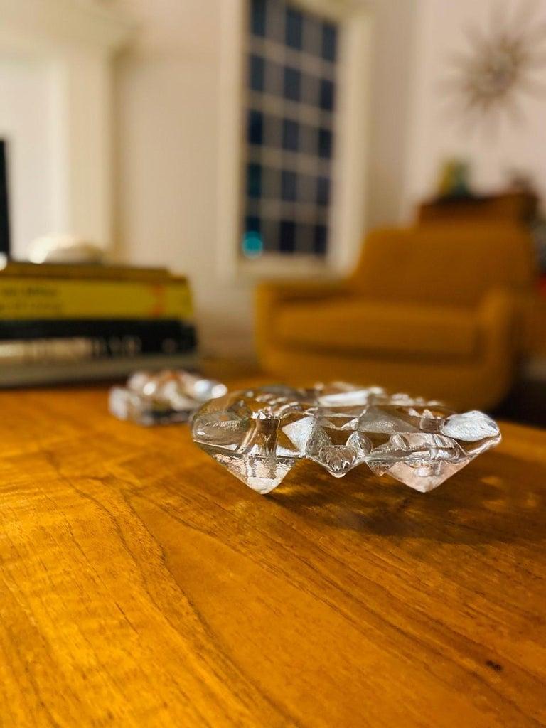 Blenko Midcentury Glass Sculptural Candleholder For Sale 2