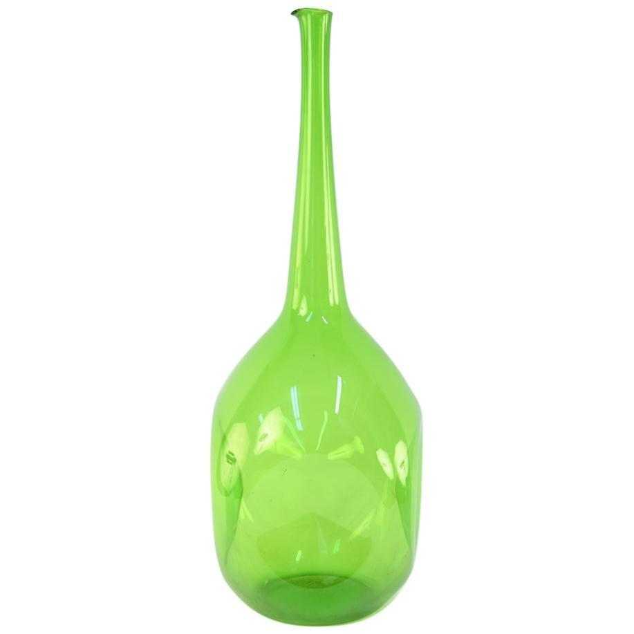 Blenko Midcentury Glass Bottleneck Vase
