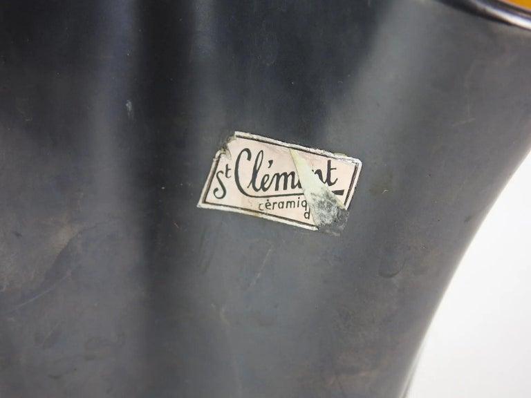 B.Letalle, Saint Clement ceramic Vase , circa 1950 In Good Condition For Sale In Saint-Ouen, FR