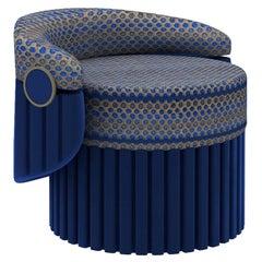 Bleu Ottoman Armchair