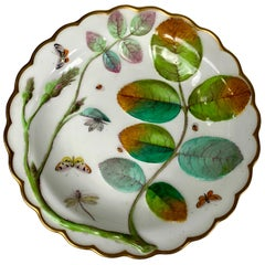 Blind Earl Pattern Dish Made by Royal Worcester Porcelain in England Circa 1870