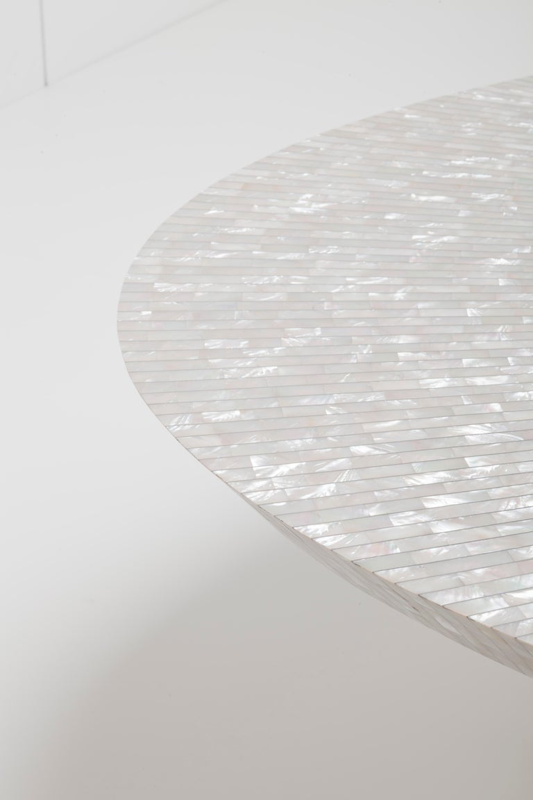Lebanese Bling Bling Coffee Table in mother of pearl - Unique Piece For Sale