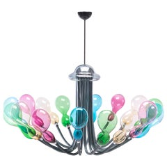 Blob Chandelier 12 Lights in Murano Glass by Karim Rashid for Purho murano