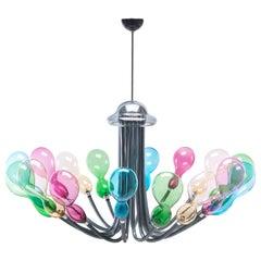 Blob Chandelier 8 lights in Murano Glass by Karim Rashid