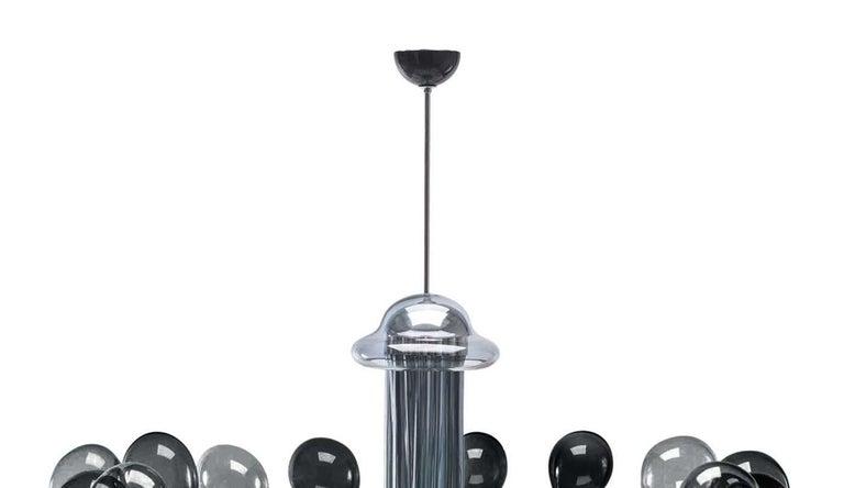 Italian Blob Sixteen-Light Black Chandelier by Karim Rashid For Sale